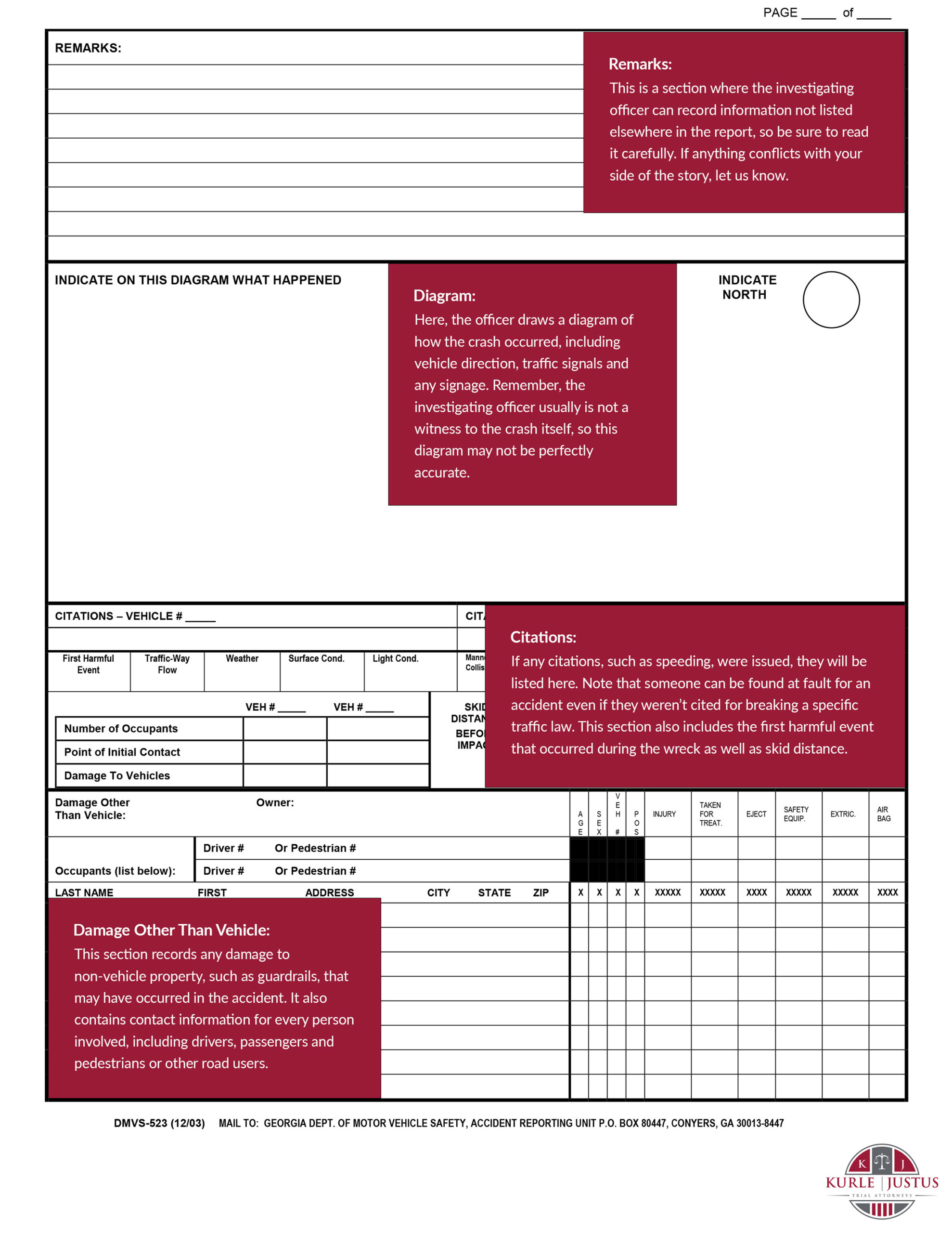 Accident Report instructions
